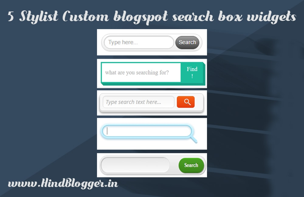 5 Unique Custom Blogspot search box widgets